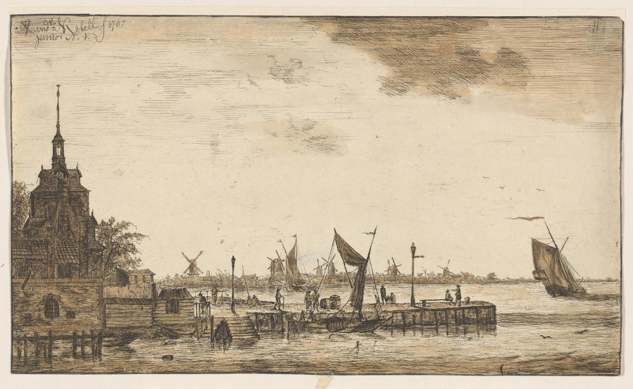 Harbour view at the Old Hooft-Poort, Rotterdam