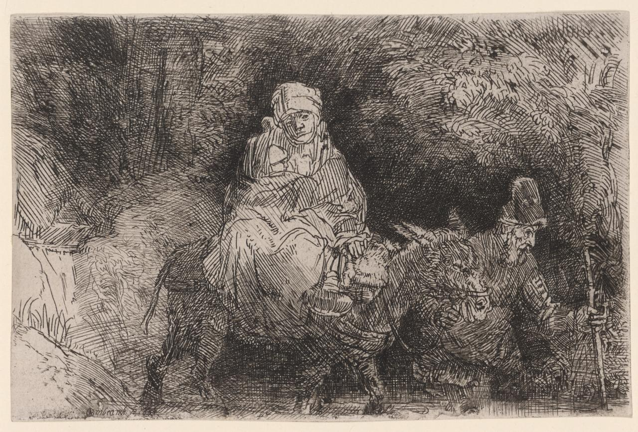 The Flight Into Egypt: The Holy Family Crossing A Brook