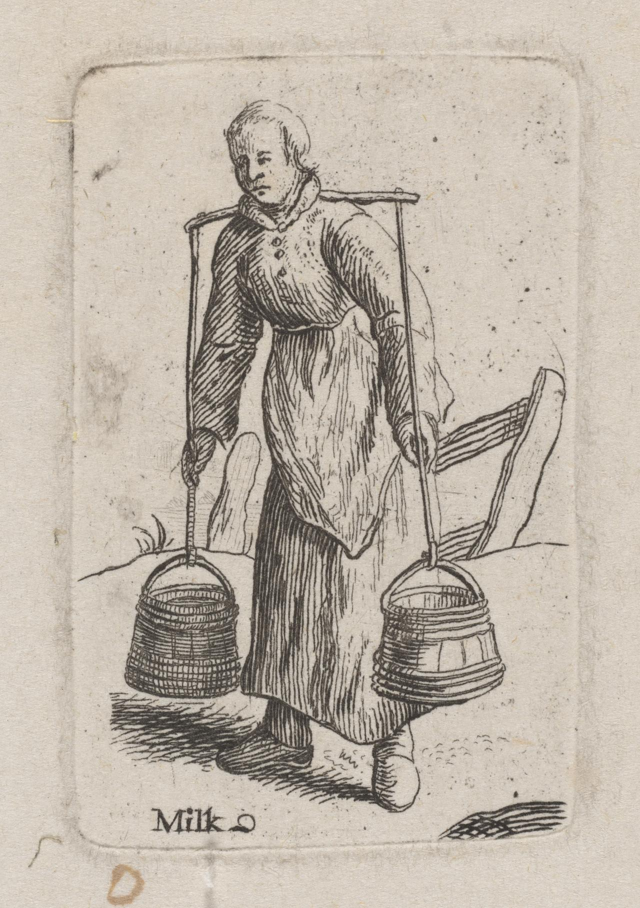 Milkmaid with two pails