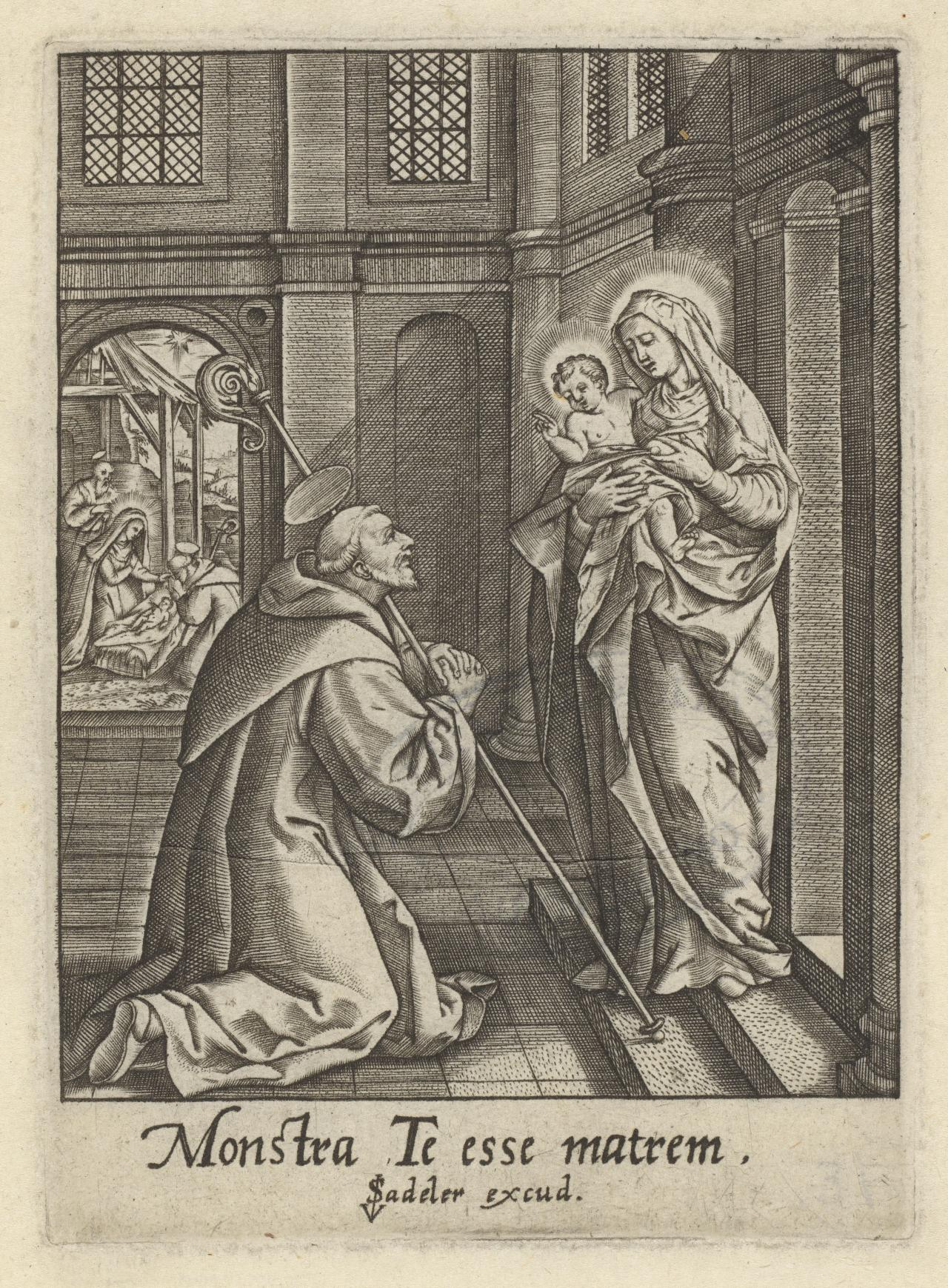 The Virgin and Child appearing to St Bernard