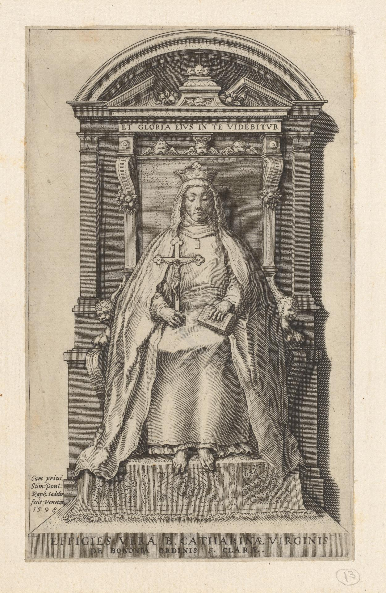 St Catherine of Bologna enthroned
