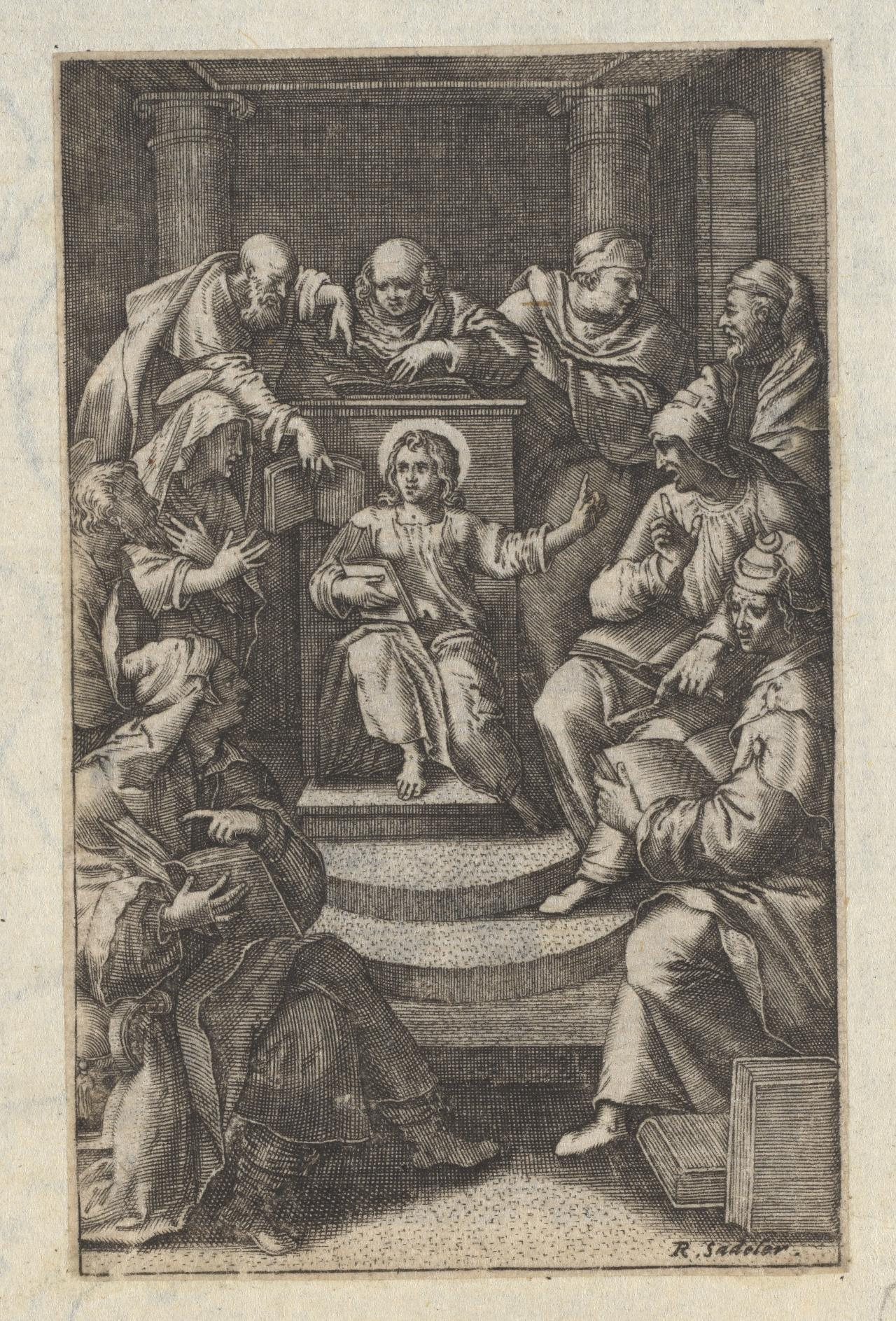 Christ Preaching in the Temple