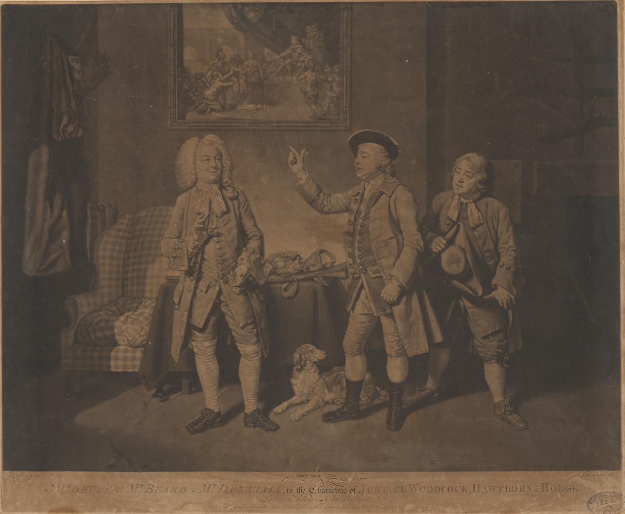 Mr Shuter,Mr Beard and Mr Dunstan: Theatrical Scene