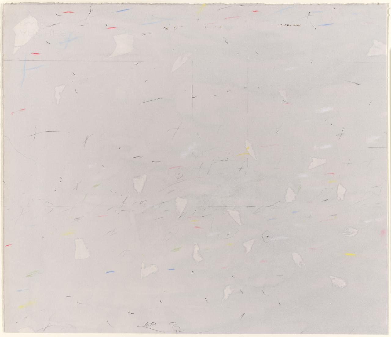 Untitled (light patches against a grey ground)