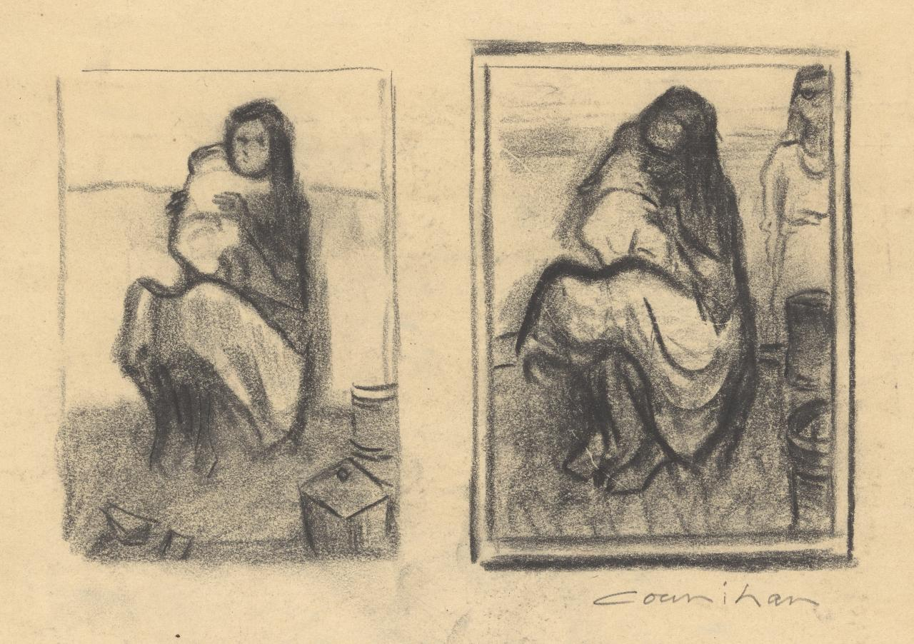 Studies for Aboriginal mother and child