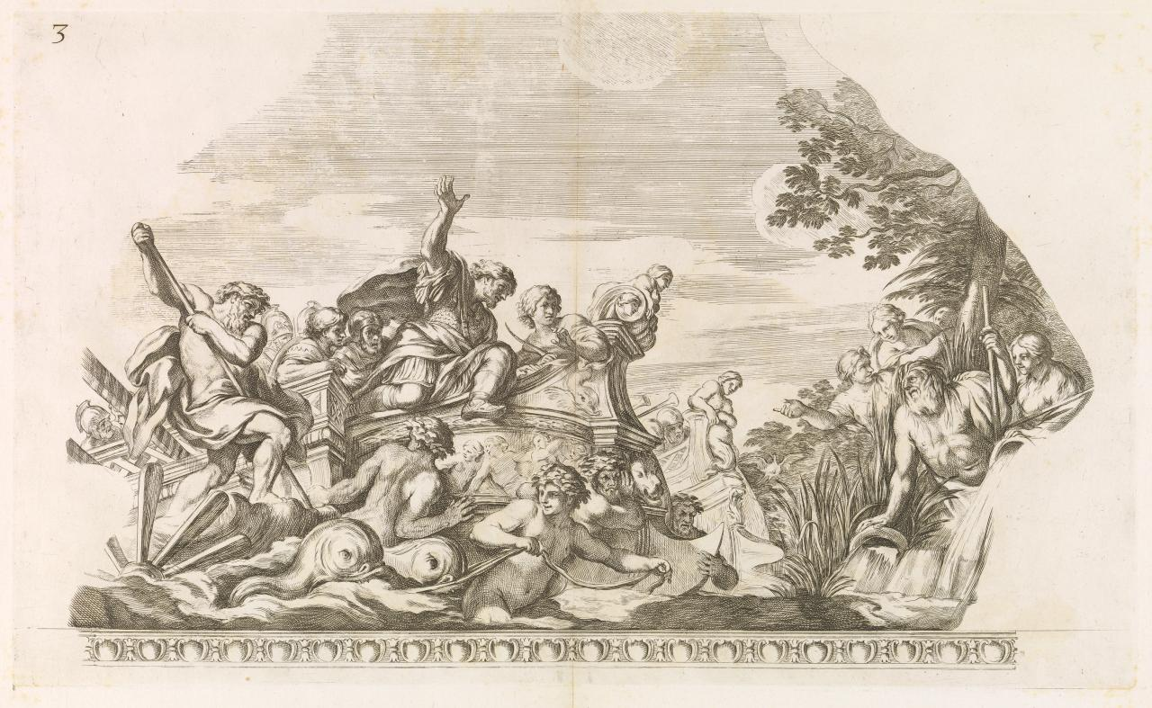 The arrival of Aeneas in Italy