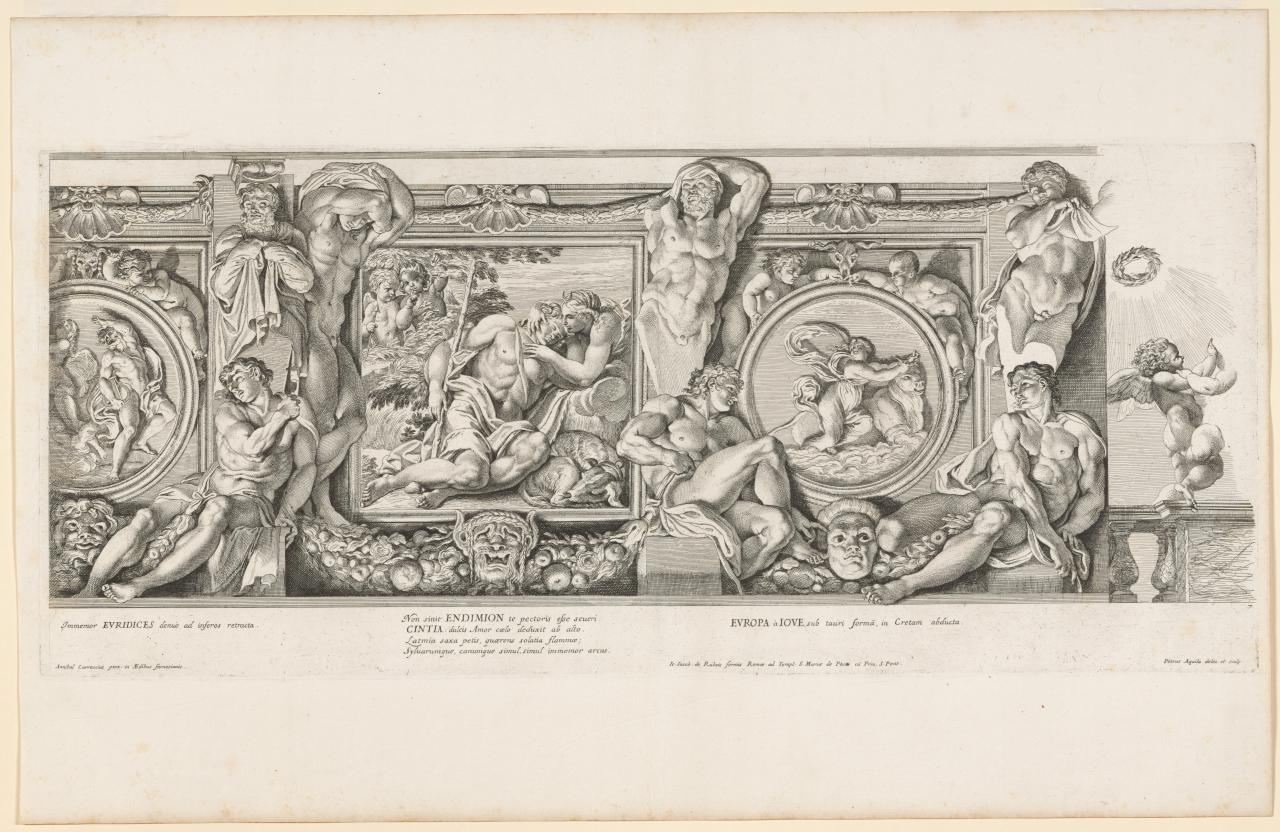 Orpheus and Eurydice; Diana and Endymion; Europa and the bull