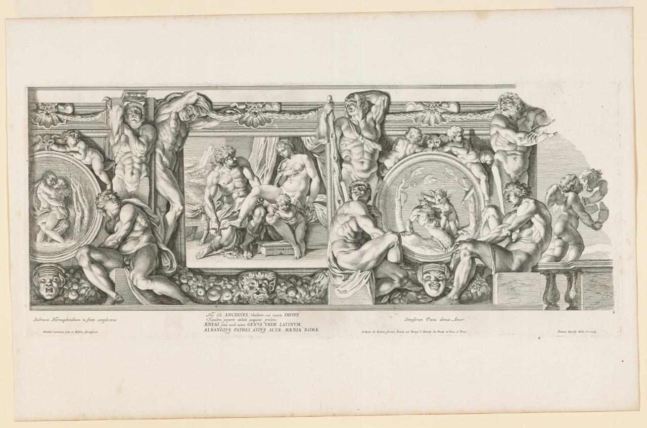 Venus and Anchises; Salmacis and Hermaphroditus; Pan and Cupid