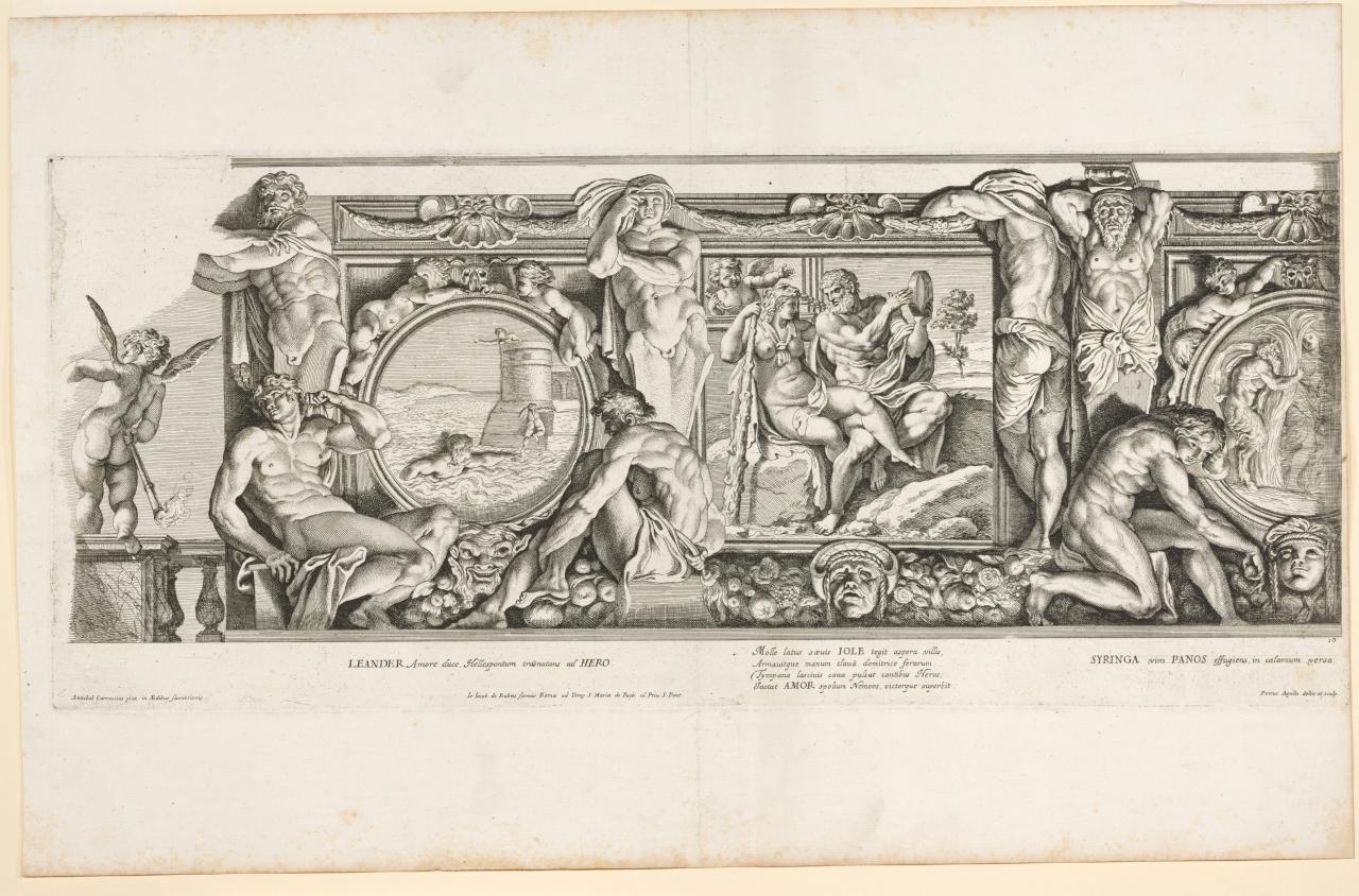 Hero and Leander; Hercules and Iole; Pan and Syrinx