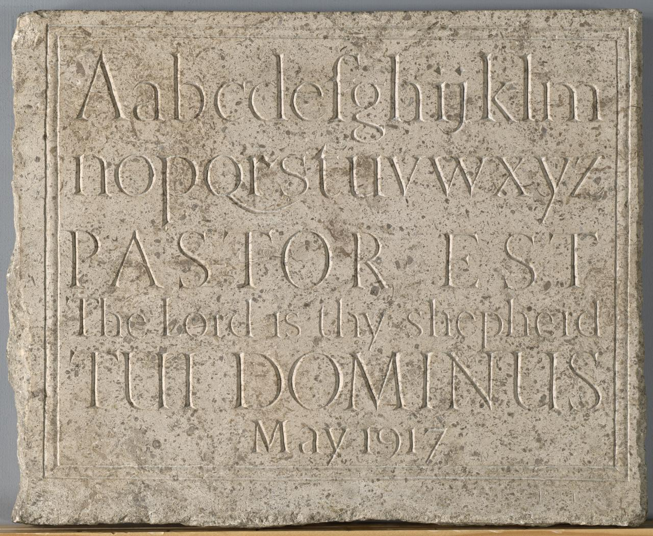 Tablet of letters and numerals