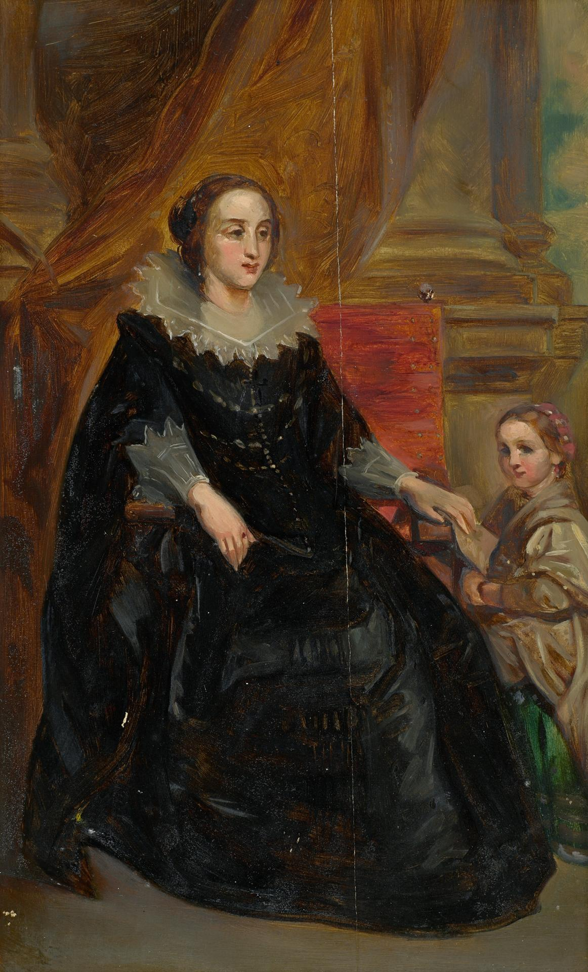 Study for picture of lady and child