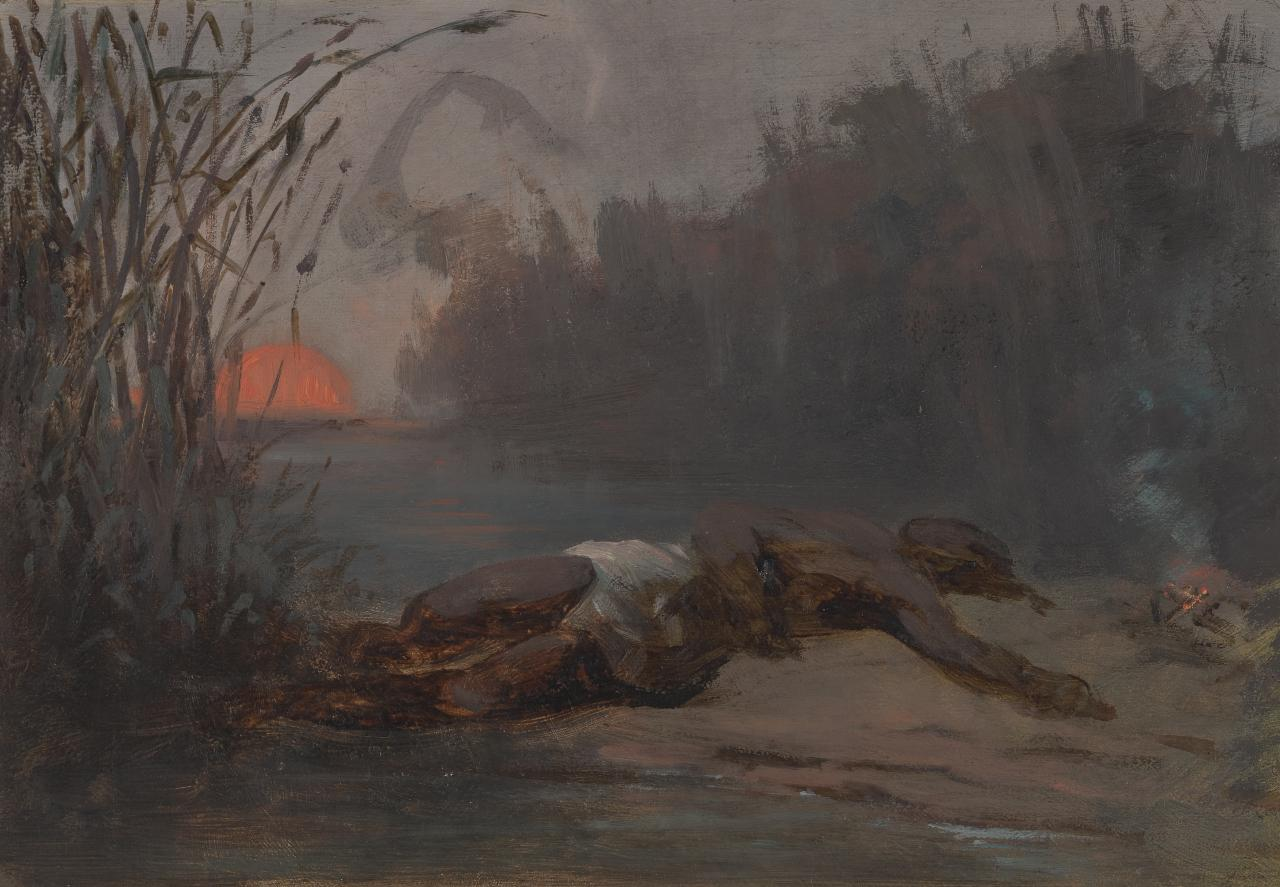 Study for picture of sunset and negro