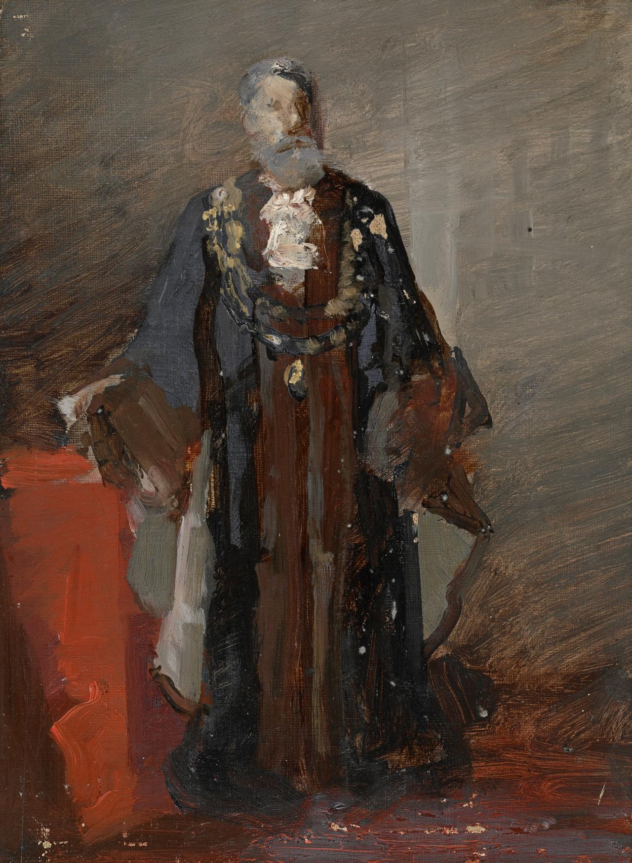 Study for picture of G. D. Carter, Mayor, Melbourne, 1885