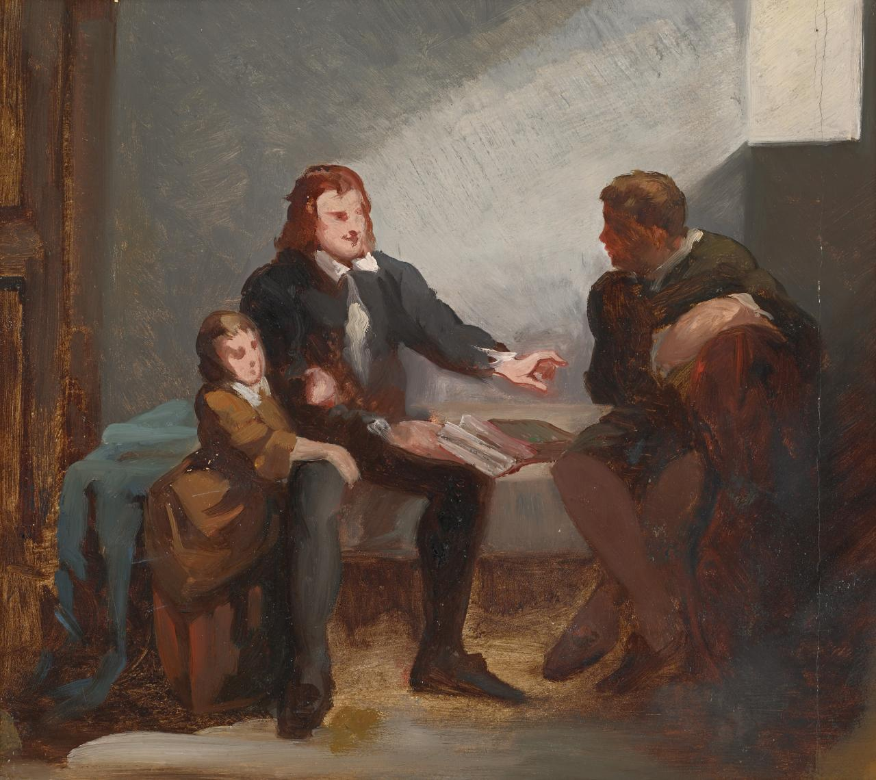 Study for picture of John Bunyan in prison