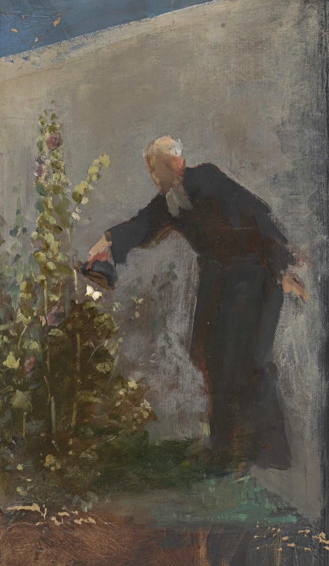 Study for picture of man and butterfly