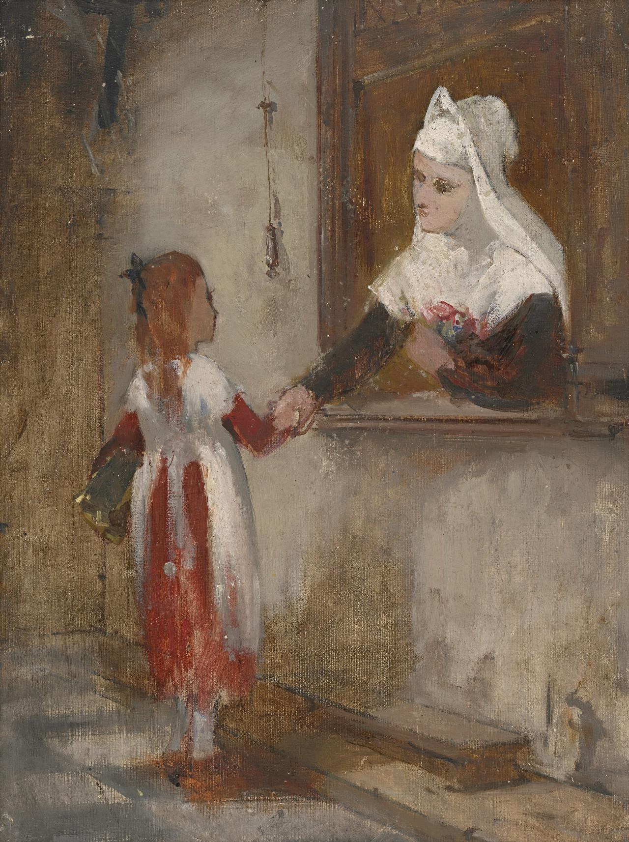 Study for picture: Nun and child