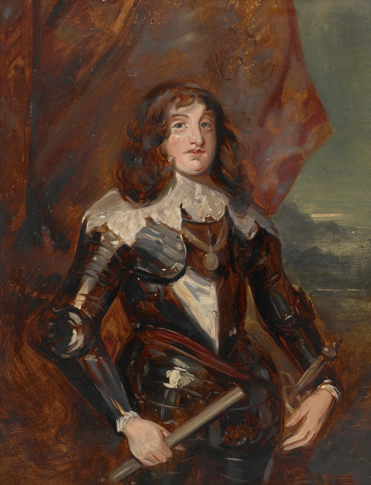 Study for picture Cavalier in armour