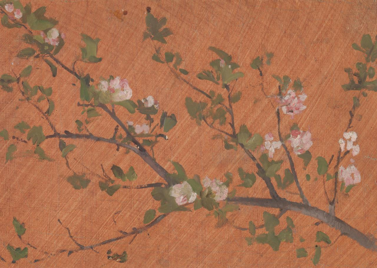 Study for panel picture Apple blossom