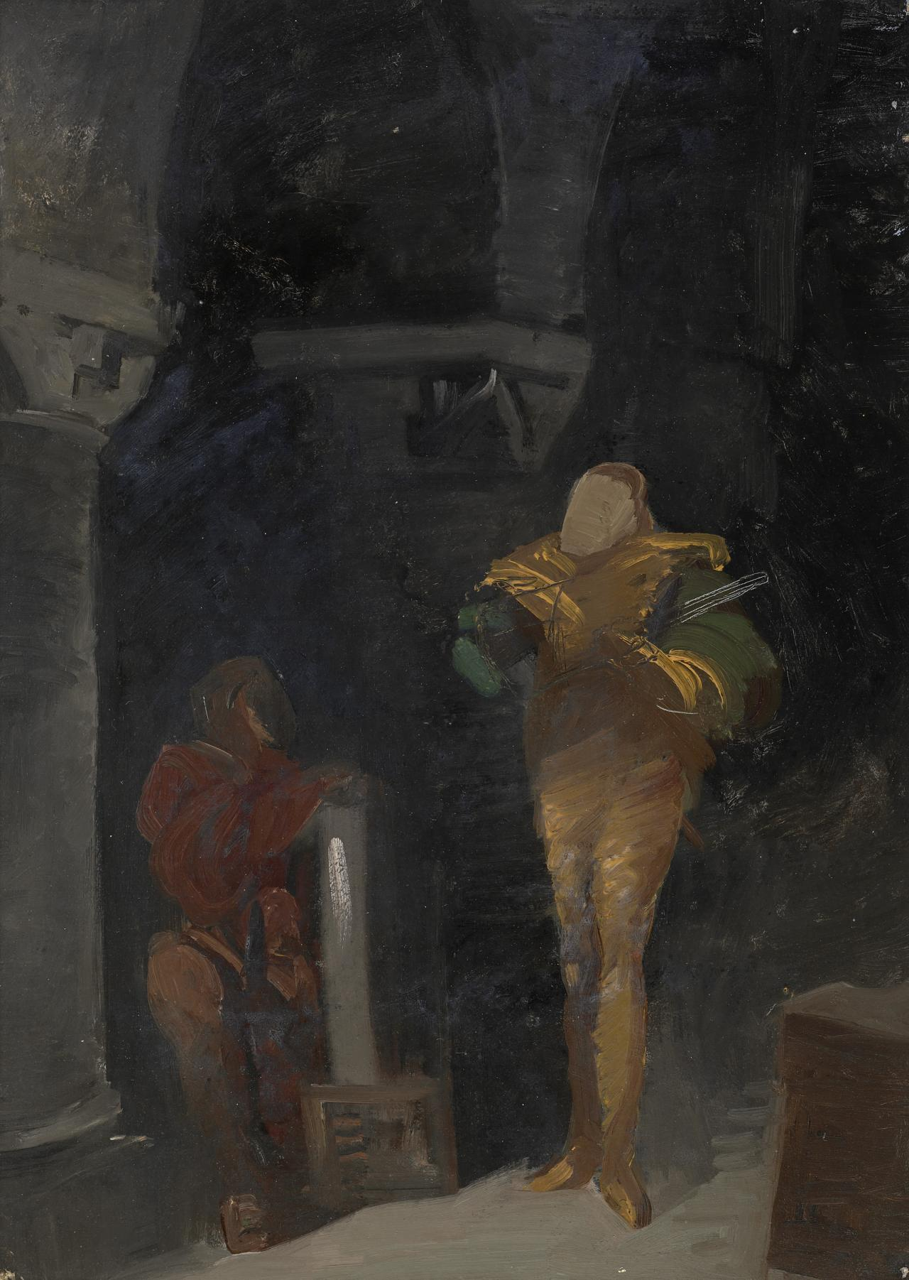 Study for picture of the Musicians