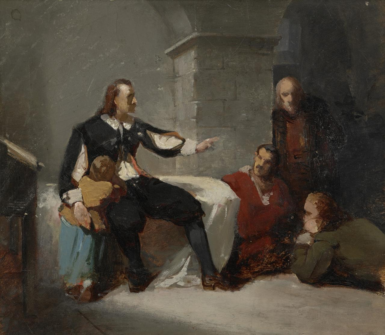 Study for Bunyan in prison