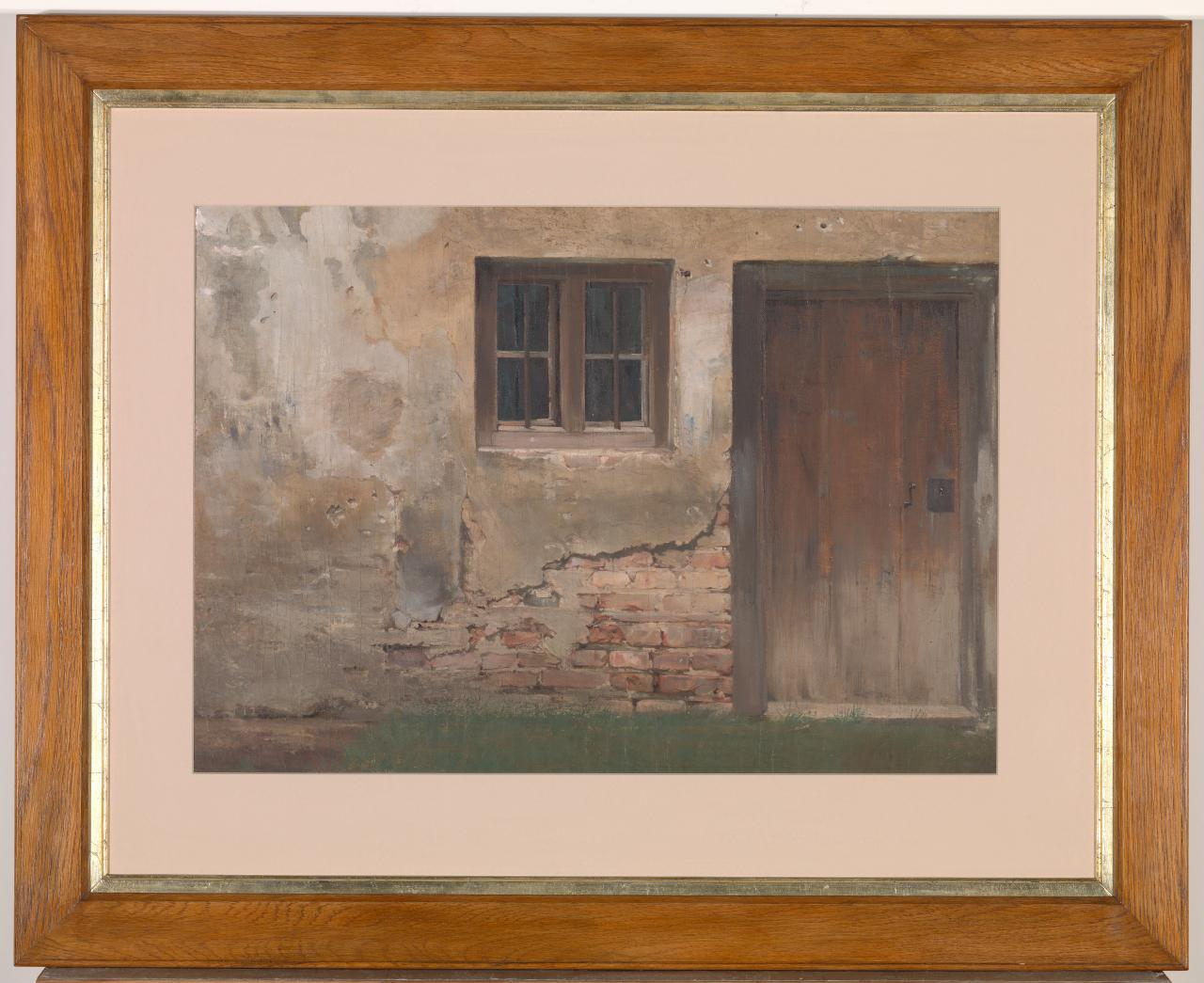 (Study of the exterior of a brick house)