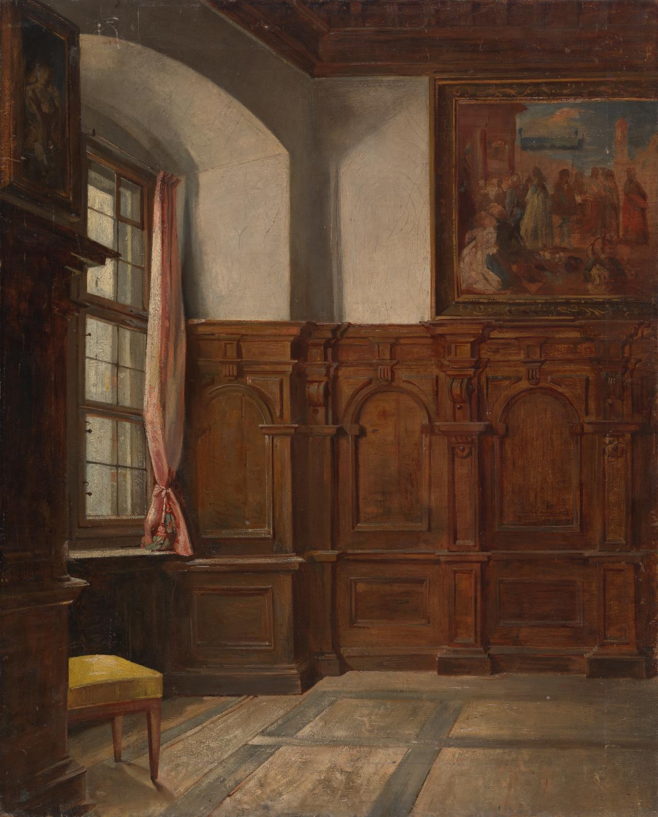 (Study of the interior of a convent room)