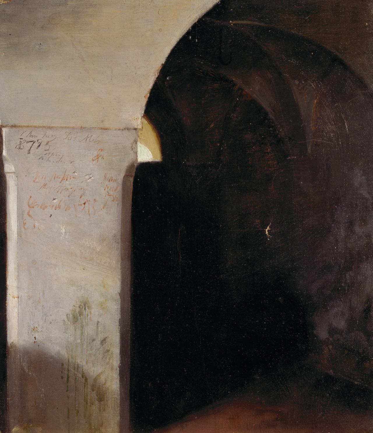 (Study of a cellar, old castle, Hohenaschau)