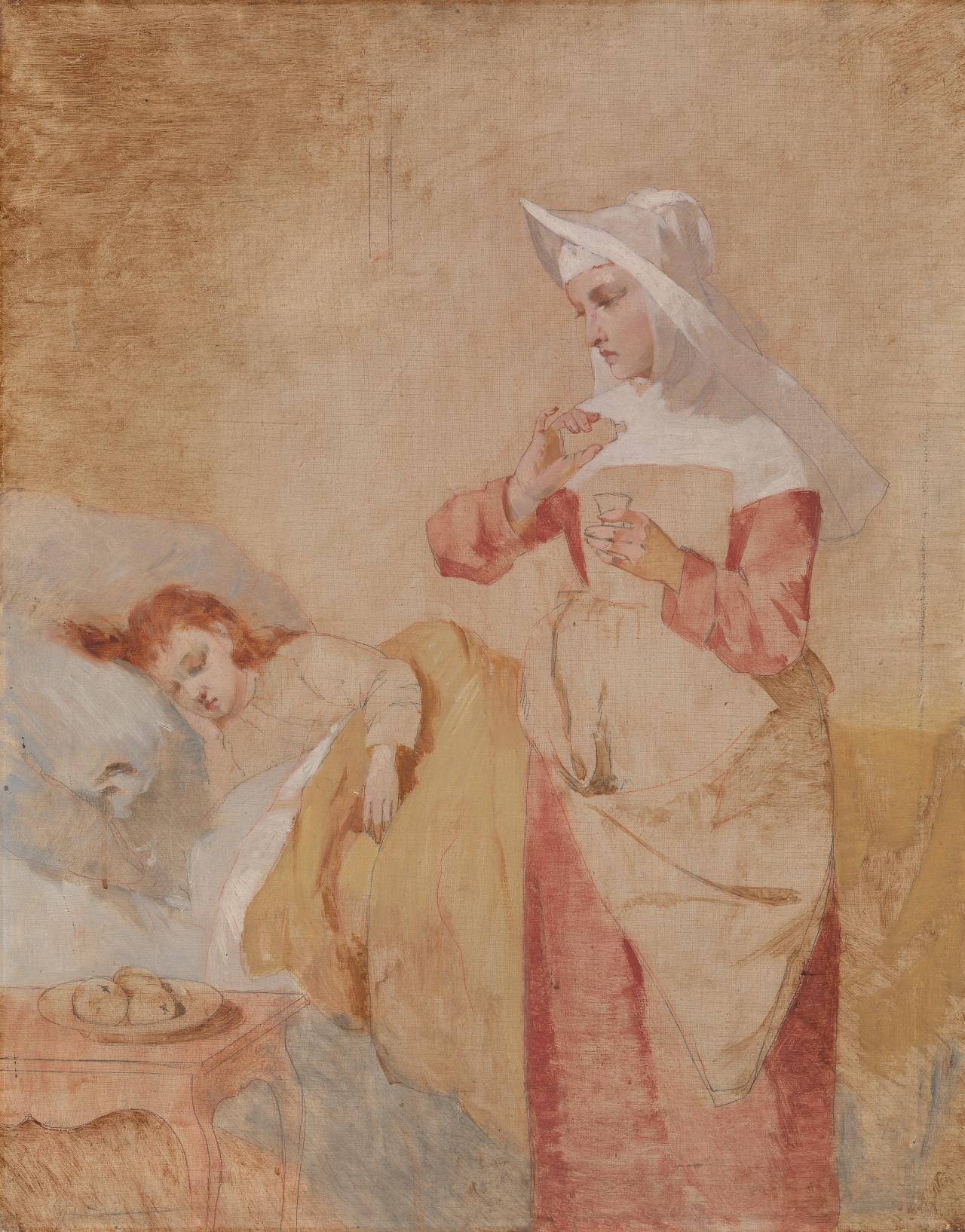 (Study of a nun and sick child)