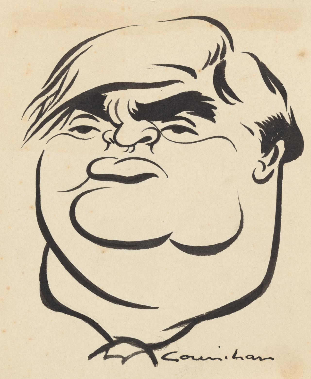 Caricature of Aneurin Bevan