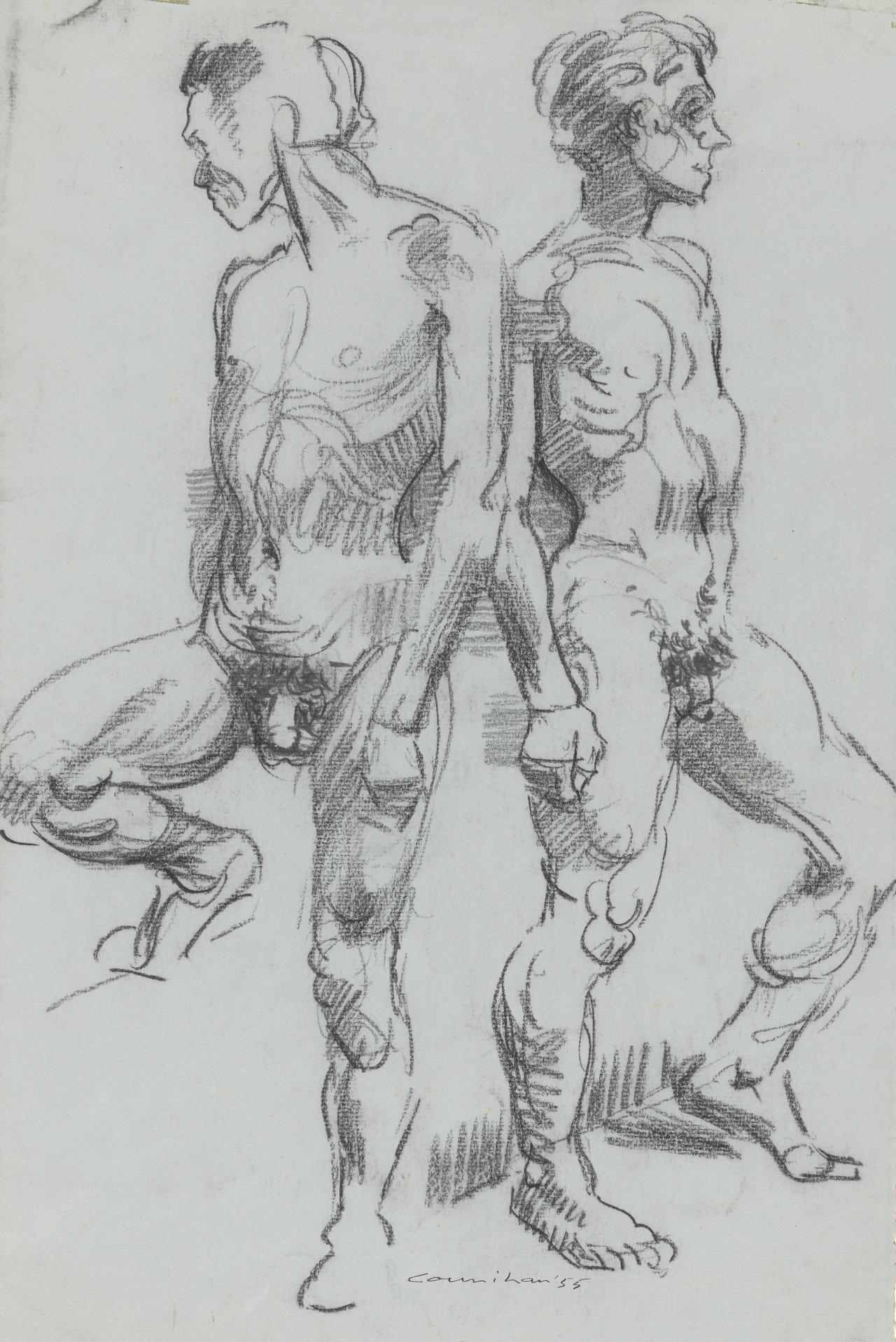 Two males standing