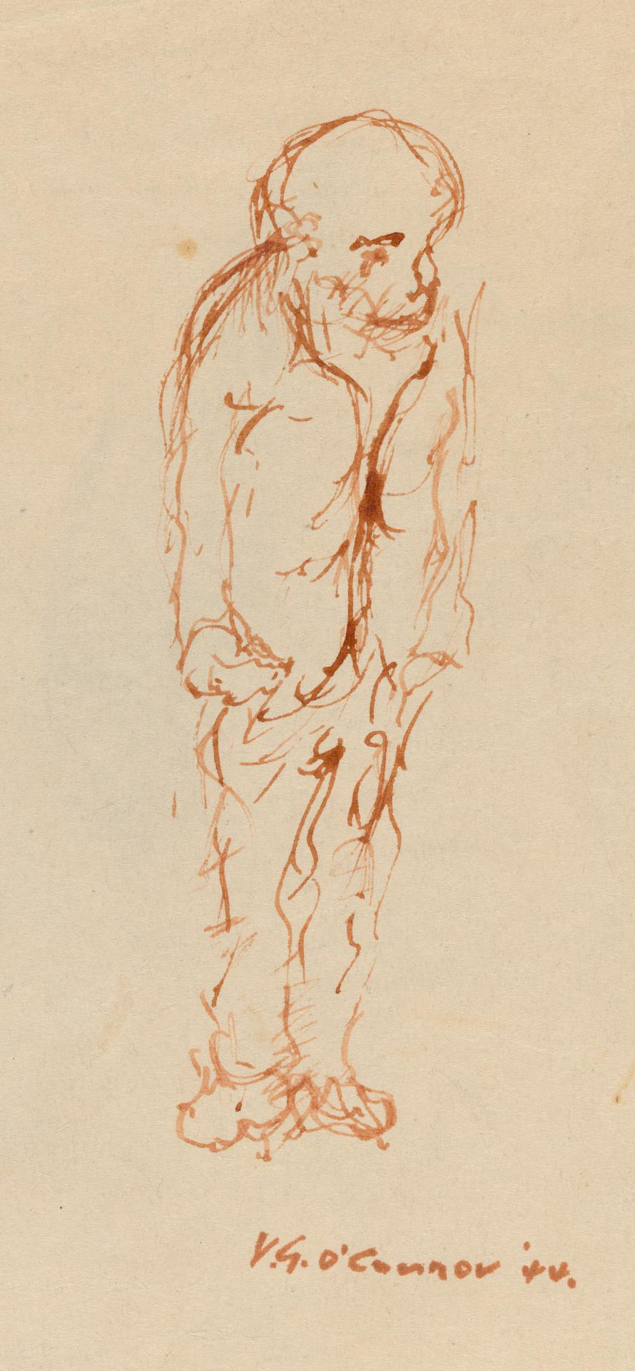 Study for figure of a standing man