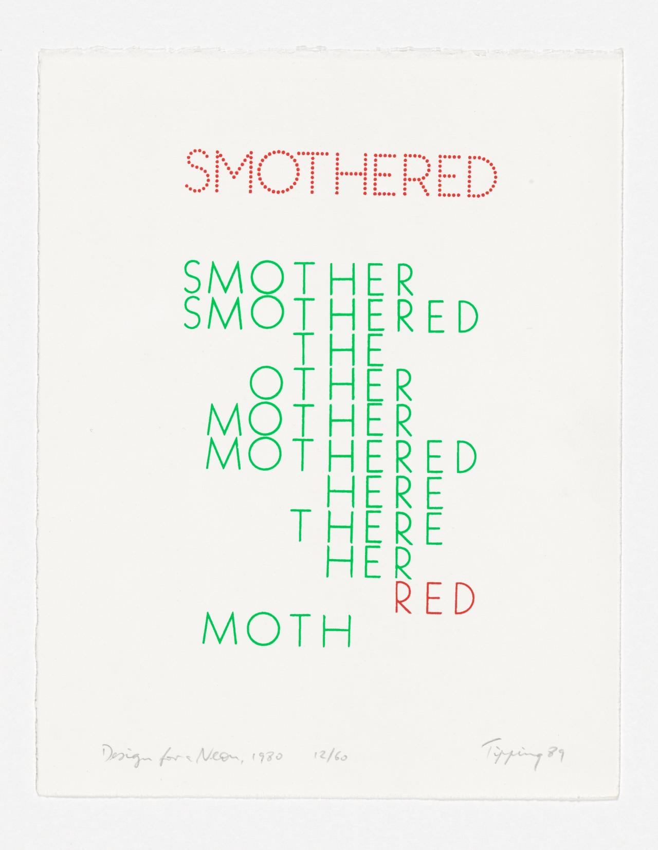 Smothered-design for a neon from