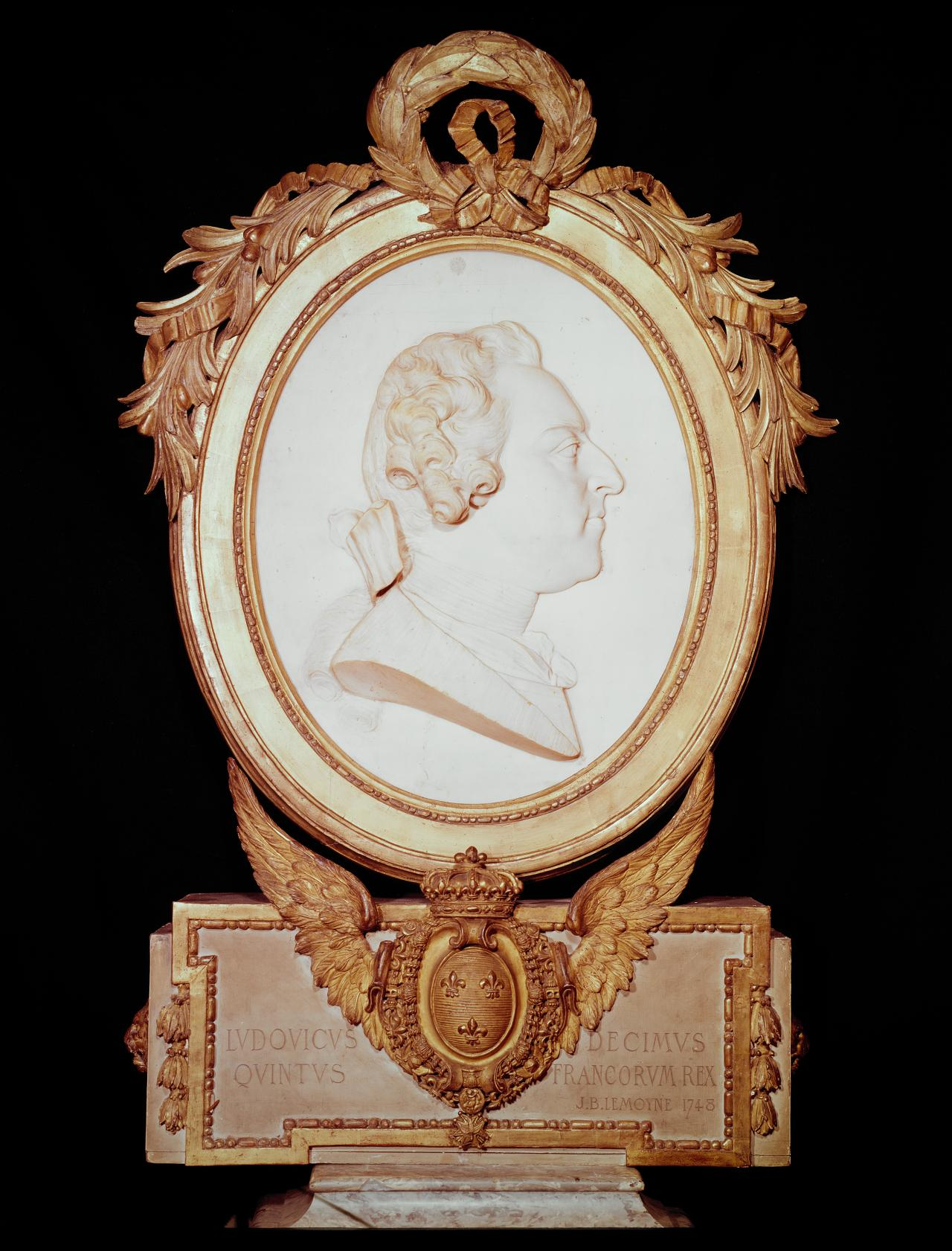 Portrait medallion of Louis XV