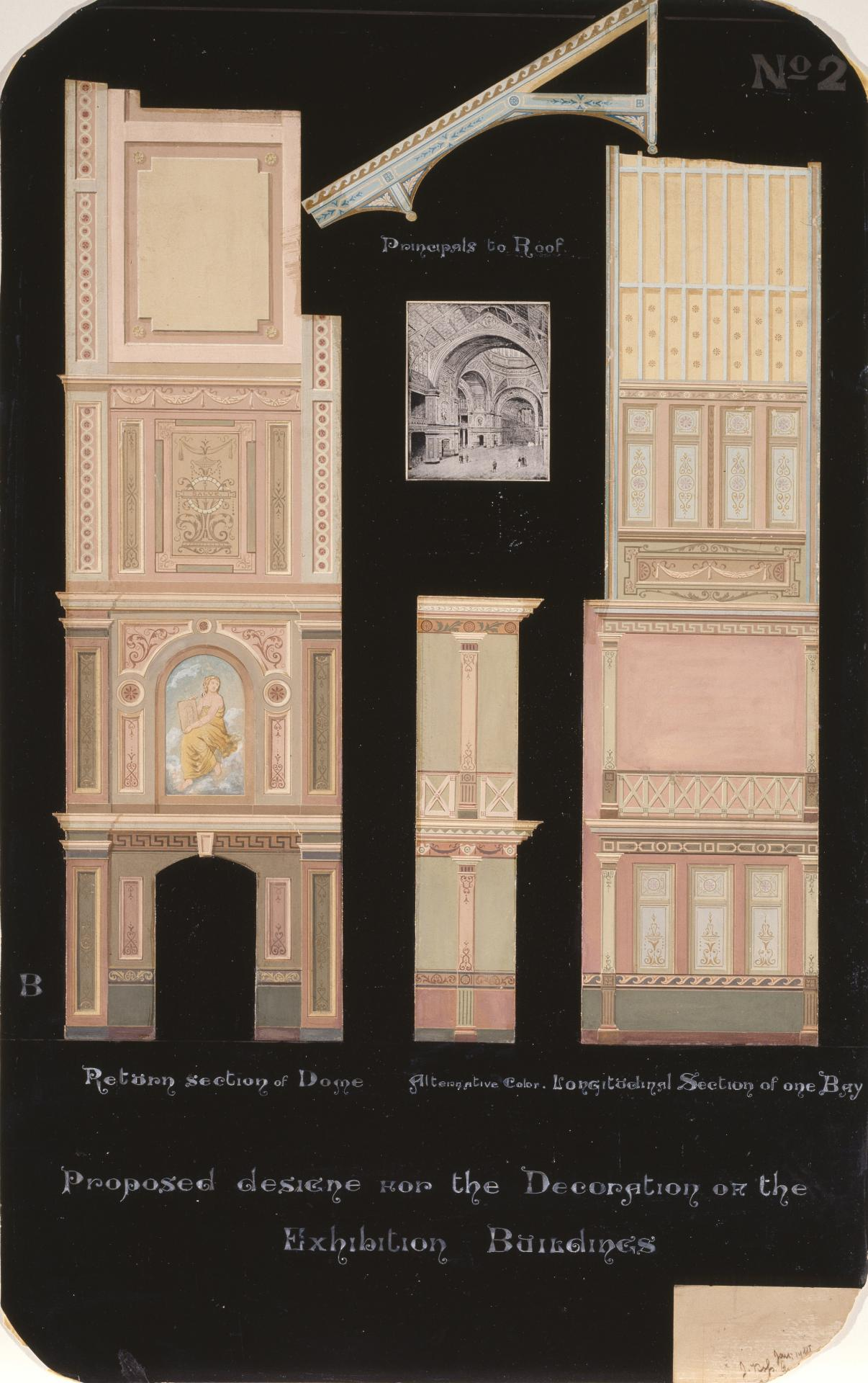Proposed design for the decoration of the Exhibition Buildings, no.2