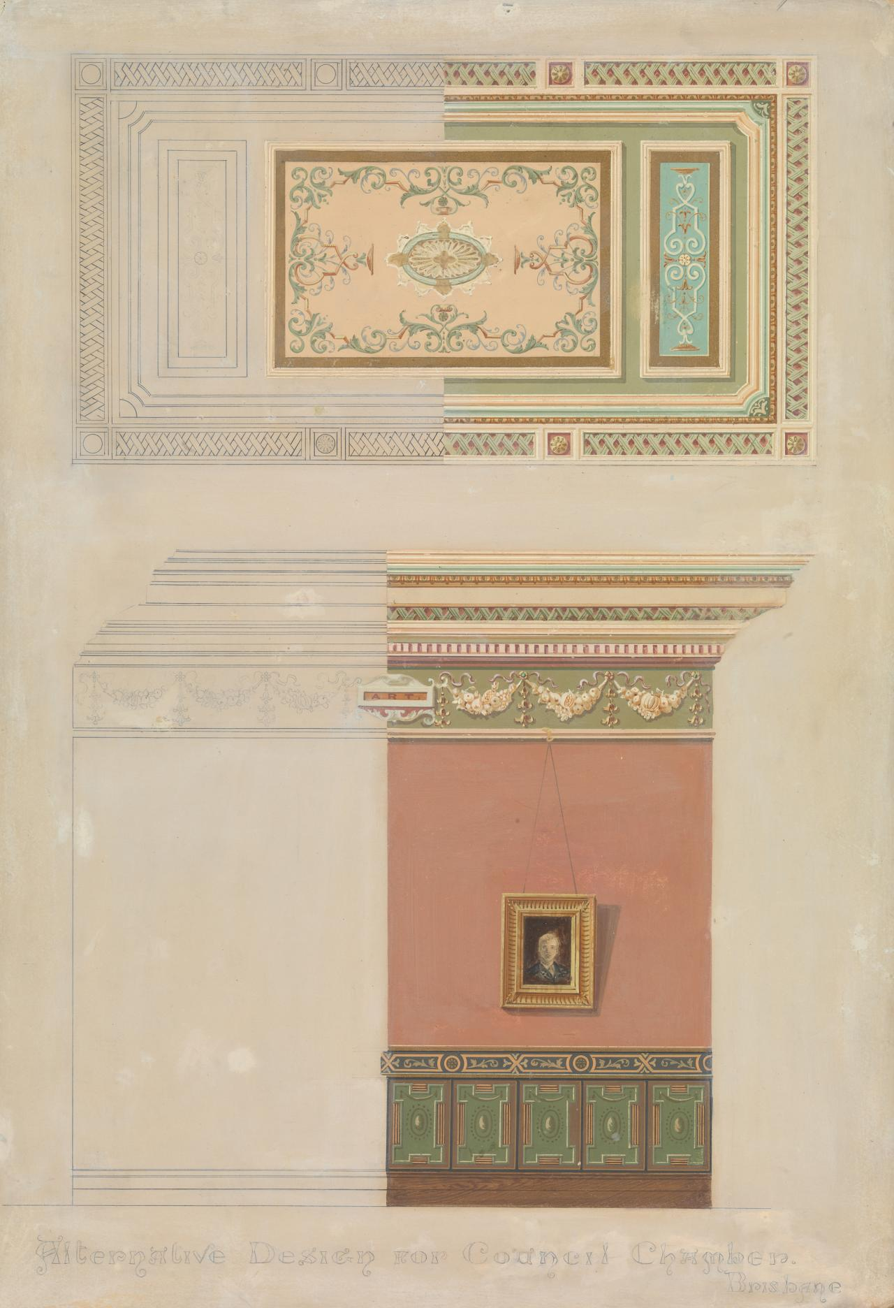 Alternative design for Council Chamber, Brisbane (Treasury Buildings)
