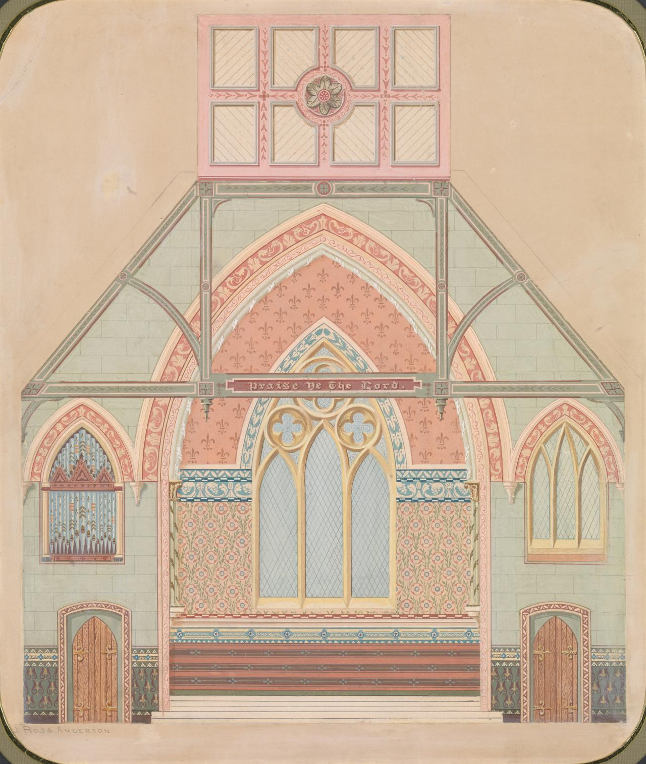 Proposed scheme of decoration for unknown church