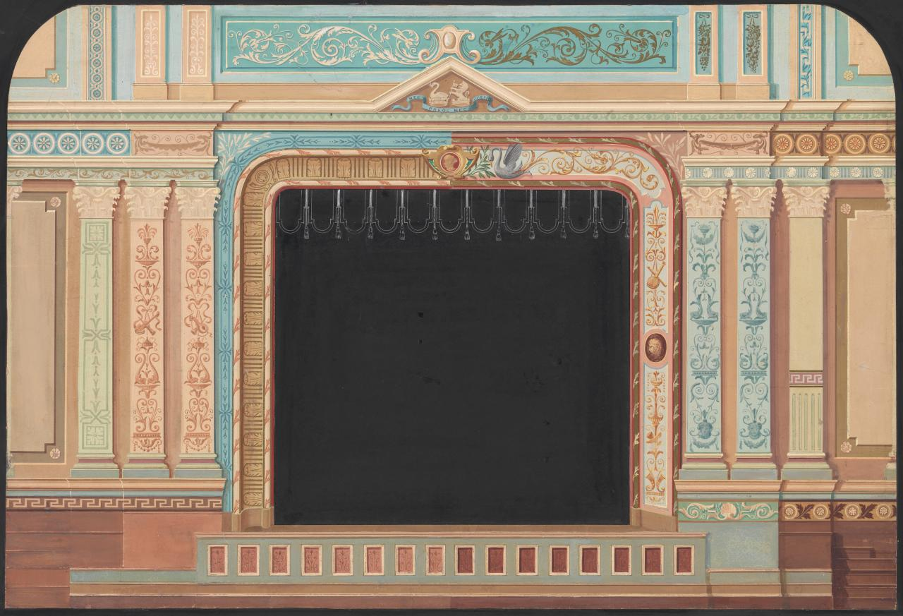 (Proposed scheme for the decoration of the Tivoli Theatre)
