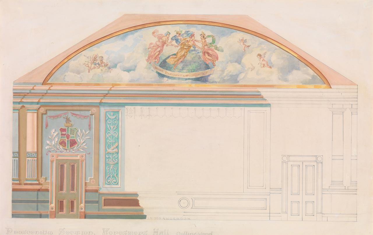 Proscenium section, Forester's Hall, Collingwood