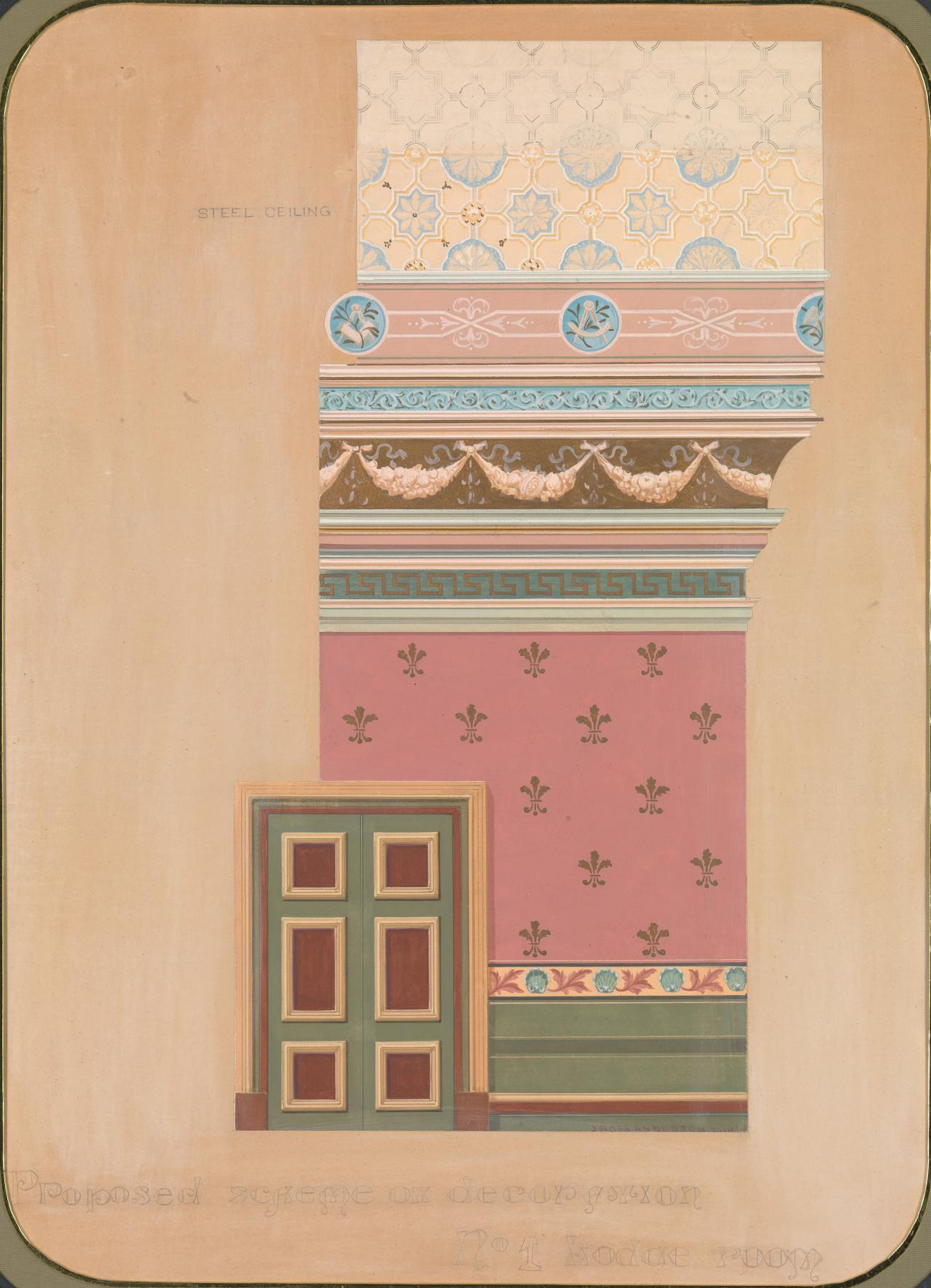 Proposed scheme of decoration, no. 1 Lodge room