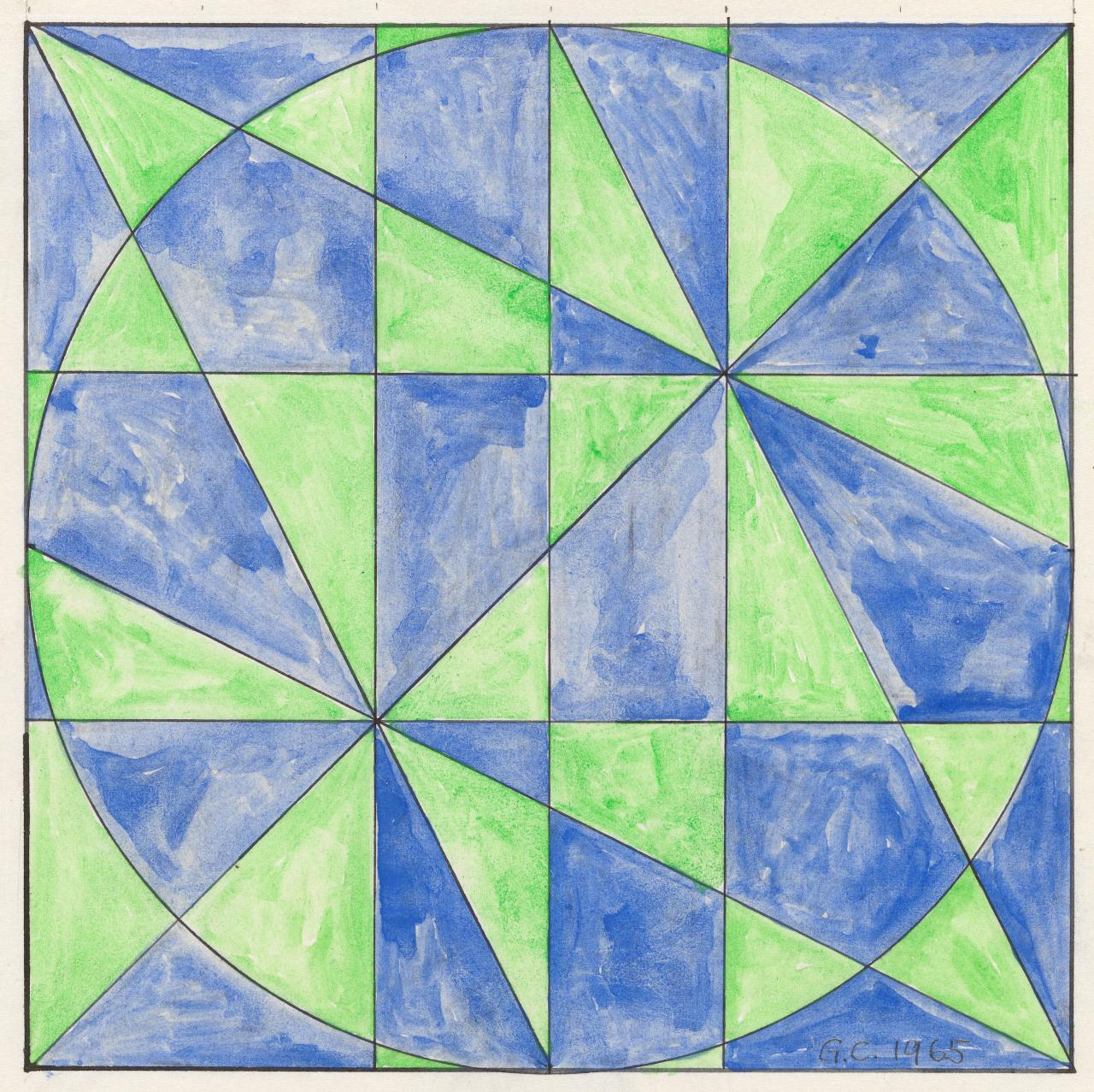 Magic square plus circle