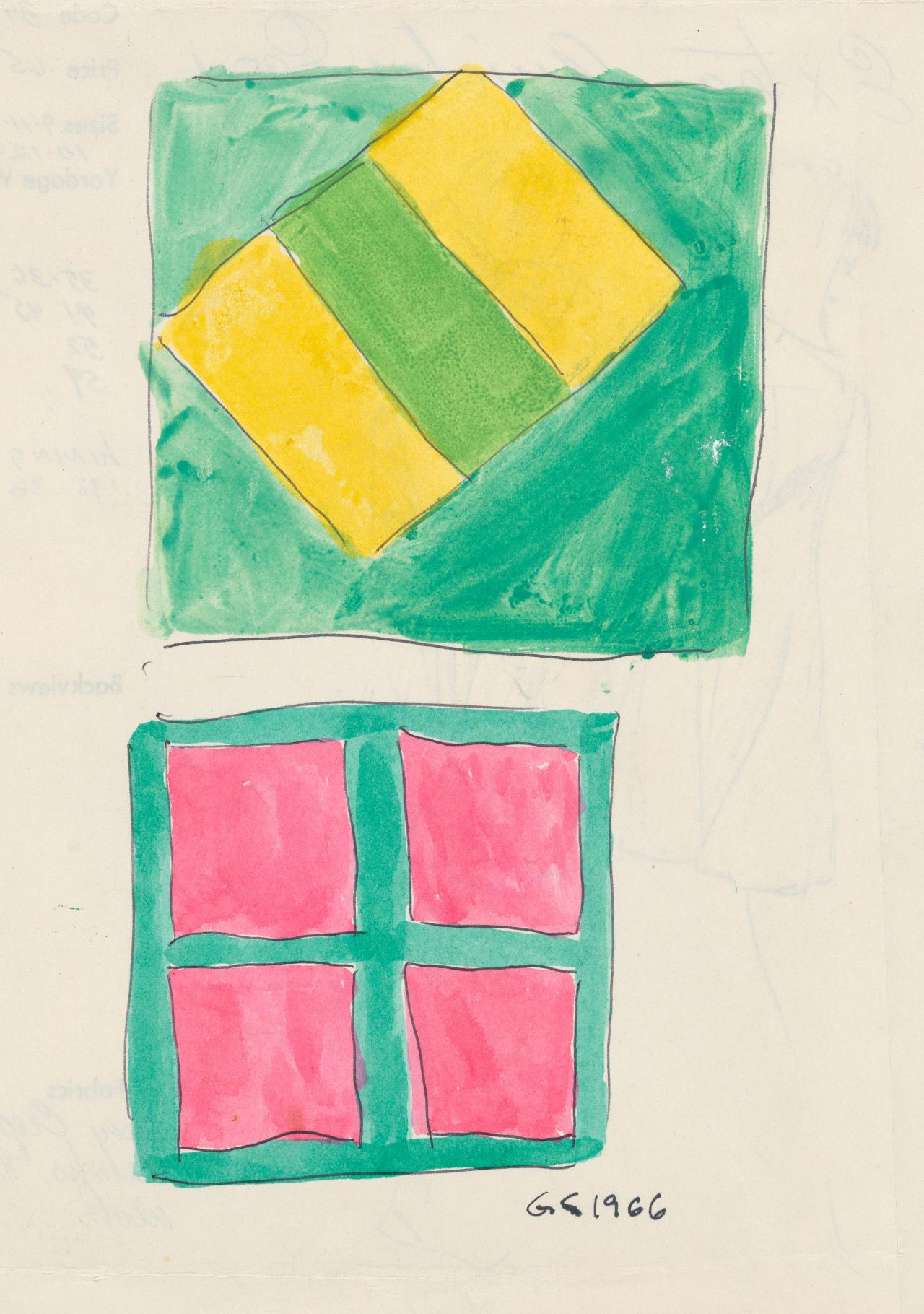 Untitled (Two abstract geometric designs)