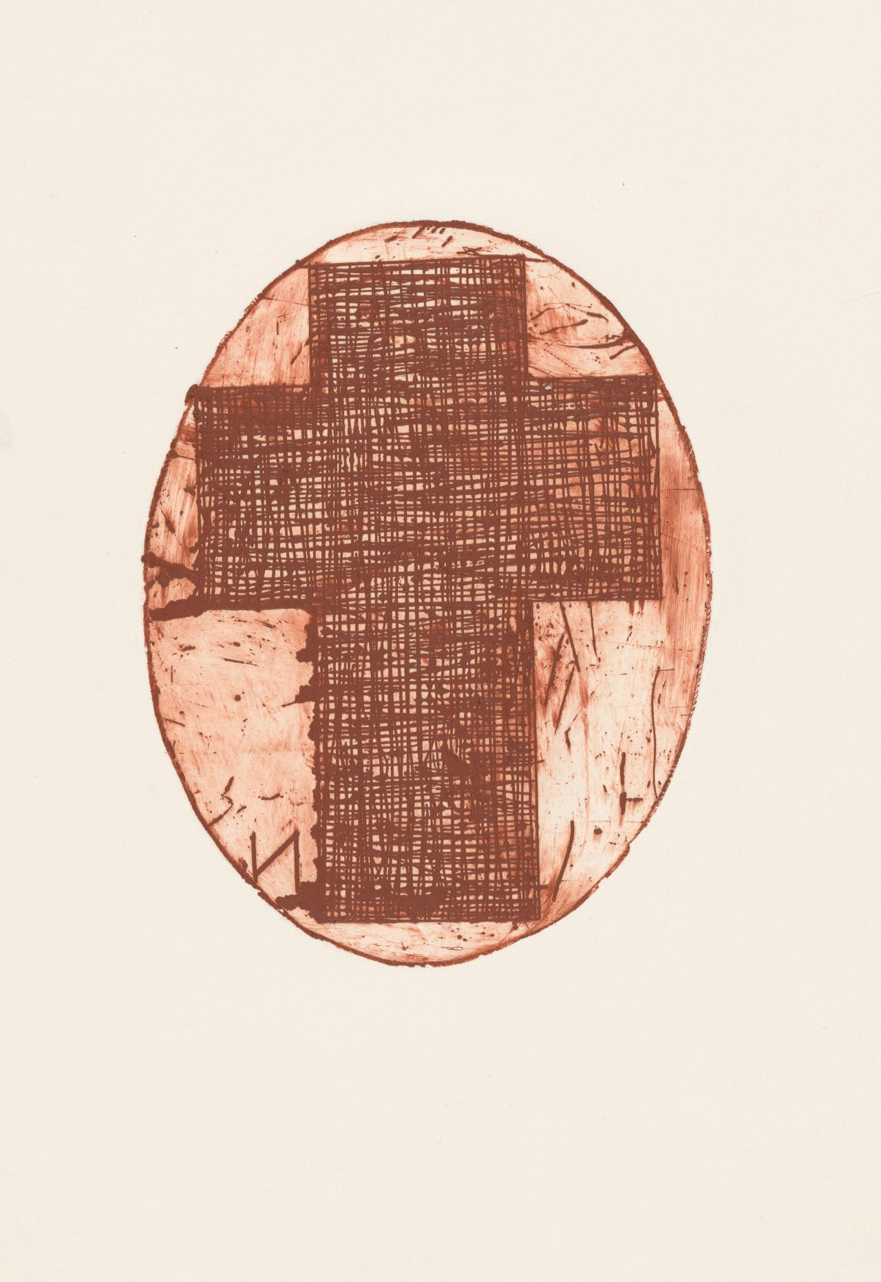 Untitled (Cross within oval)