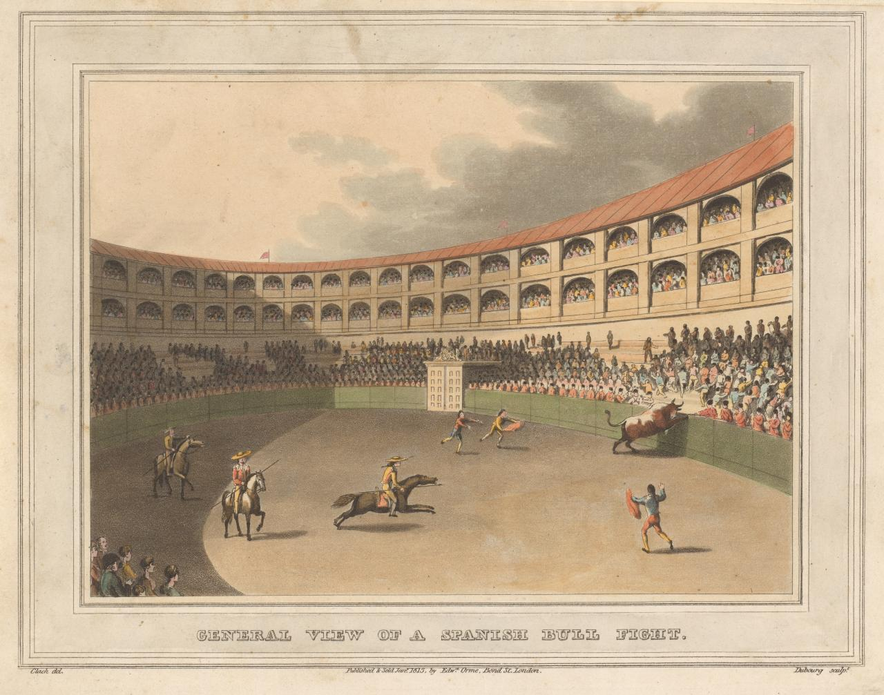 General view of the fight, and the amphitheatre