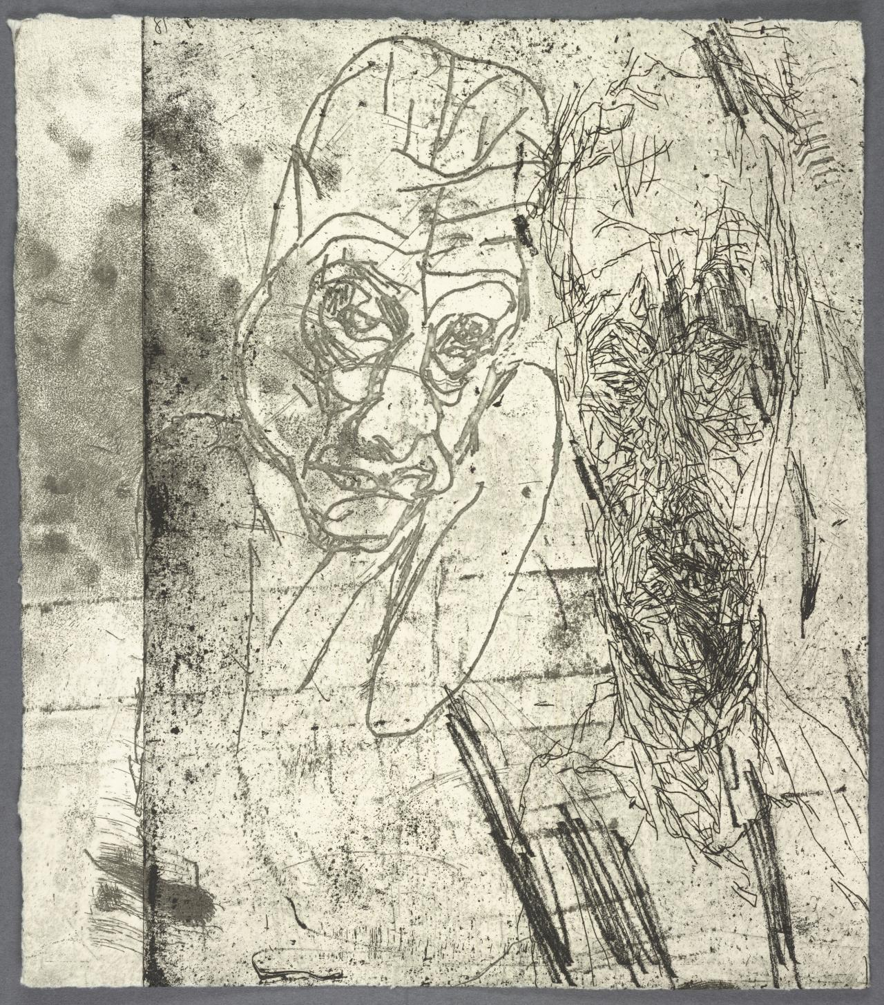 (ALPHABET/HAEMORRHAGE) Black Box of 100 Self Portrait Etchings 2