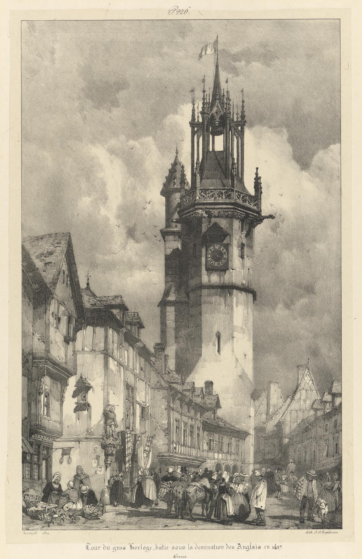 Clock tower, built under the rule of the English in 1417, Evreux