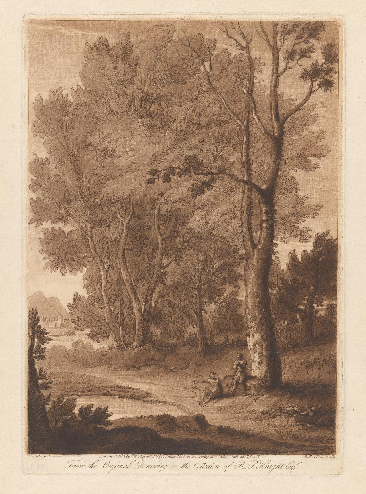 Landscape, with two figures