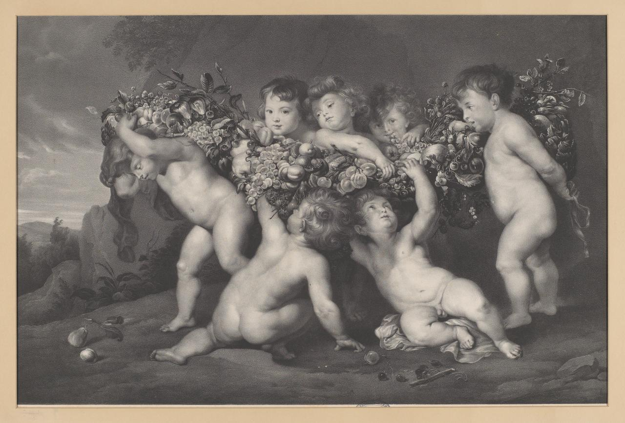 Children carrying fruit