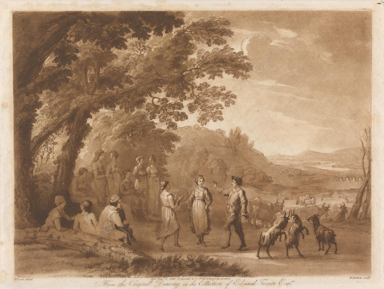A Landscape with peasants dancing