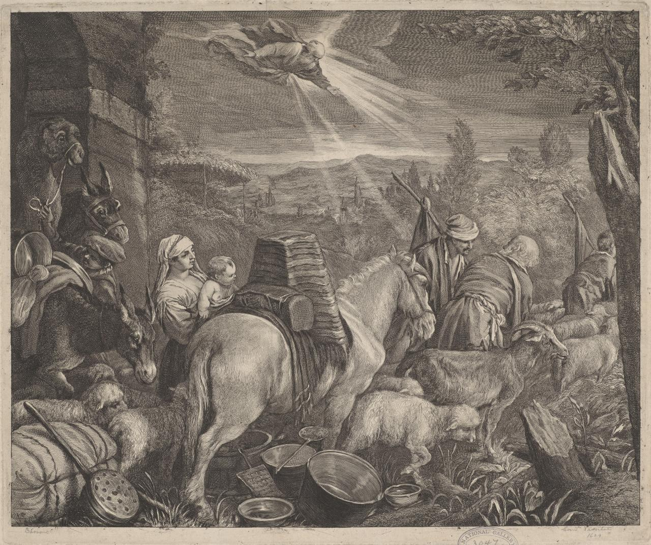 The Lord directing Abraham to depart from Aaran
