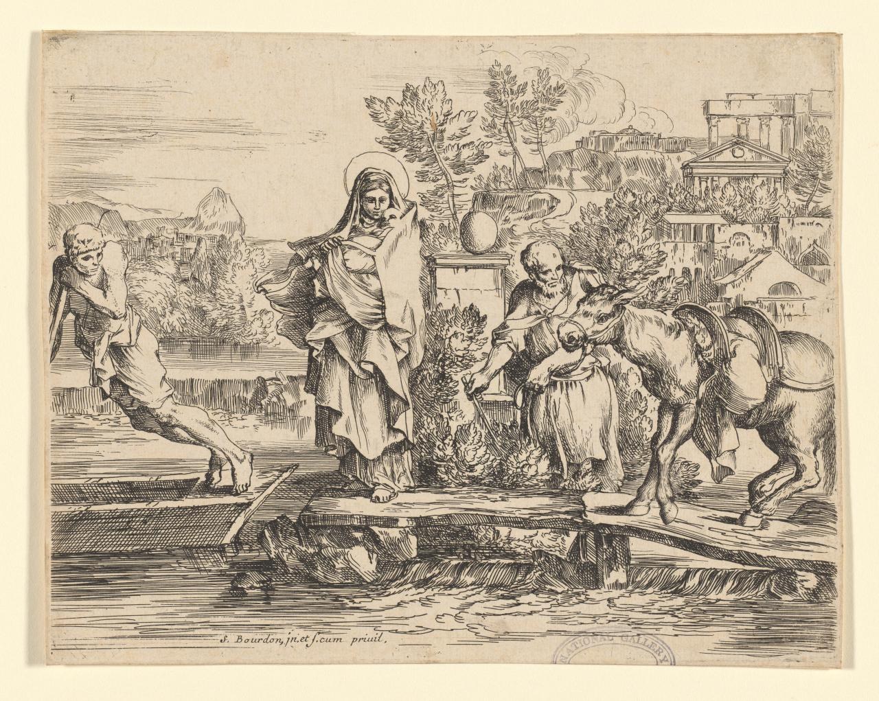The Holy Family Embarking